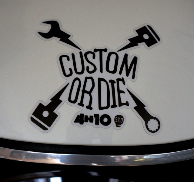 sticker 4h10 custom or die