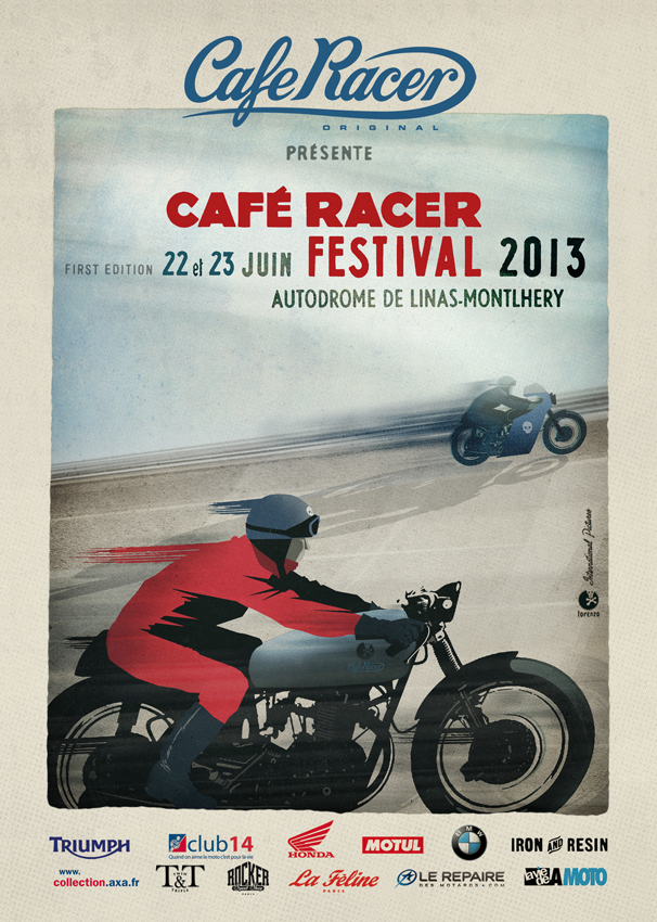 affiche cafe racer festival lorenzo erotico colors