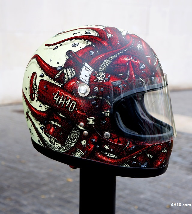 cannibal letters x 4h10 helmet