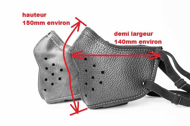 masque facial moto cuir 4h10.com