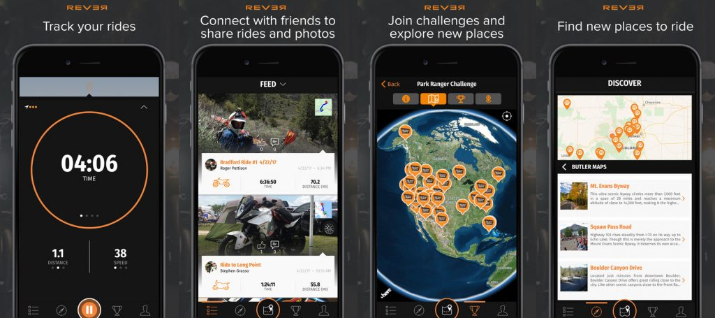 REVER-app-application-moto-motorcycle-GPS-communautaire-friend-amis-BMW-itinéraire-route-road trip-groupe-cafe racer-