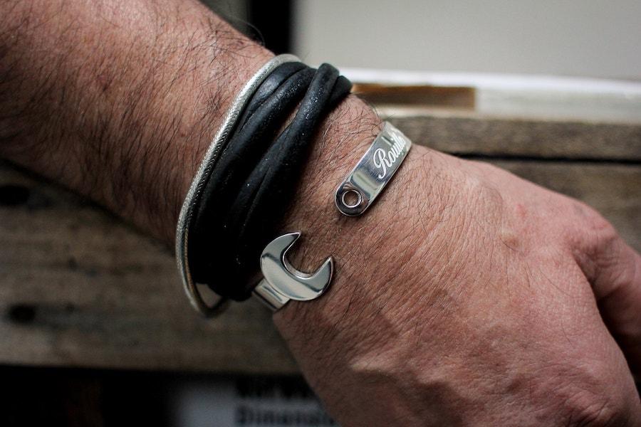 rouille 925 bracelet moto clé vintage