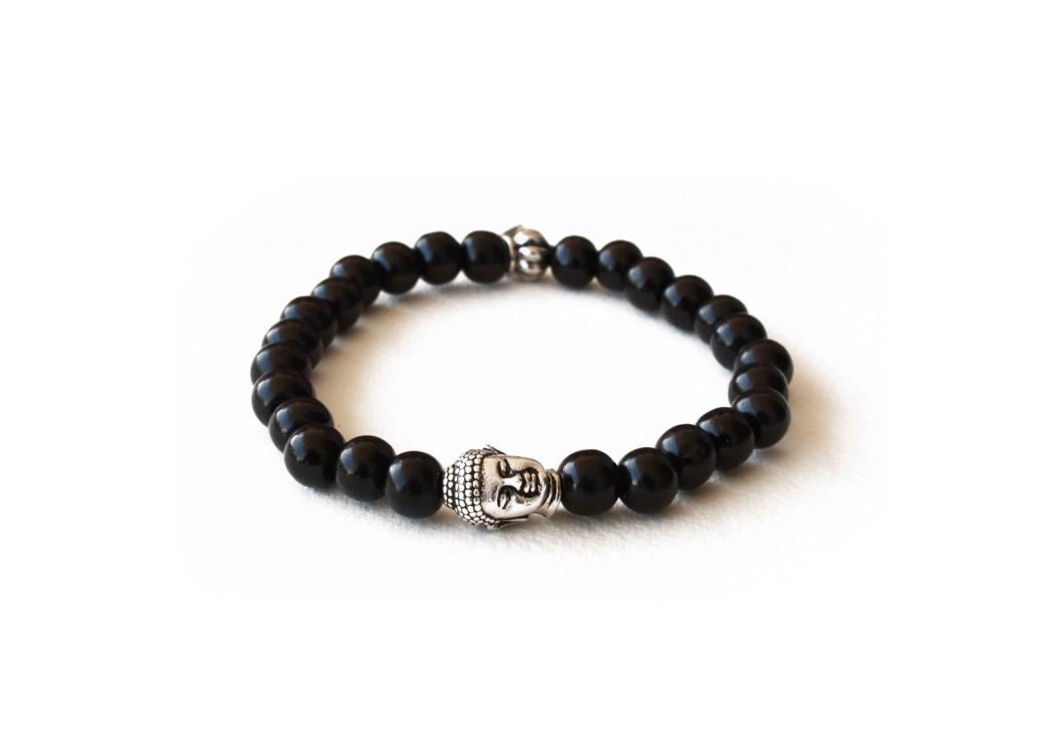 black-pearl-bracelet-bois-de-santal-noir-et-tete-de-bouddha-argente