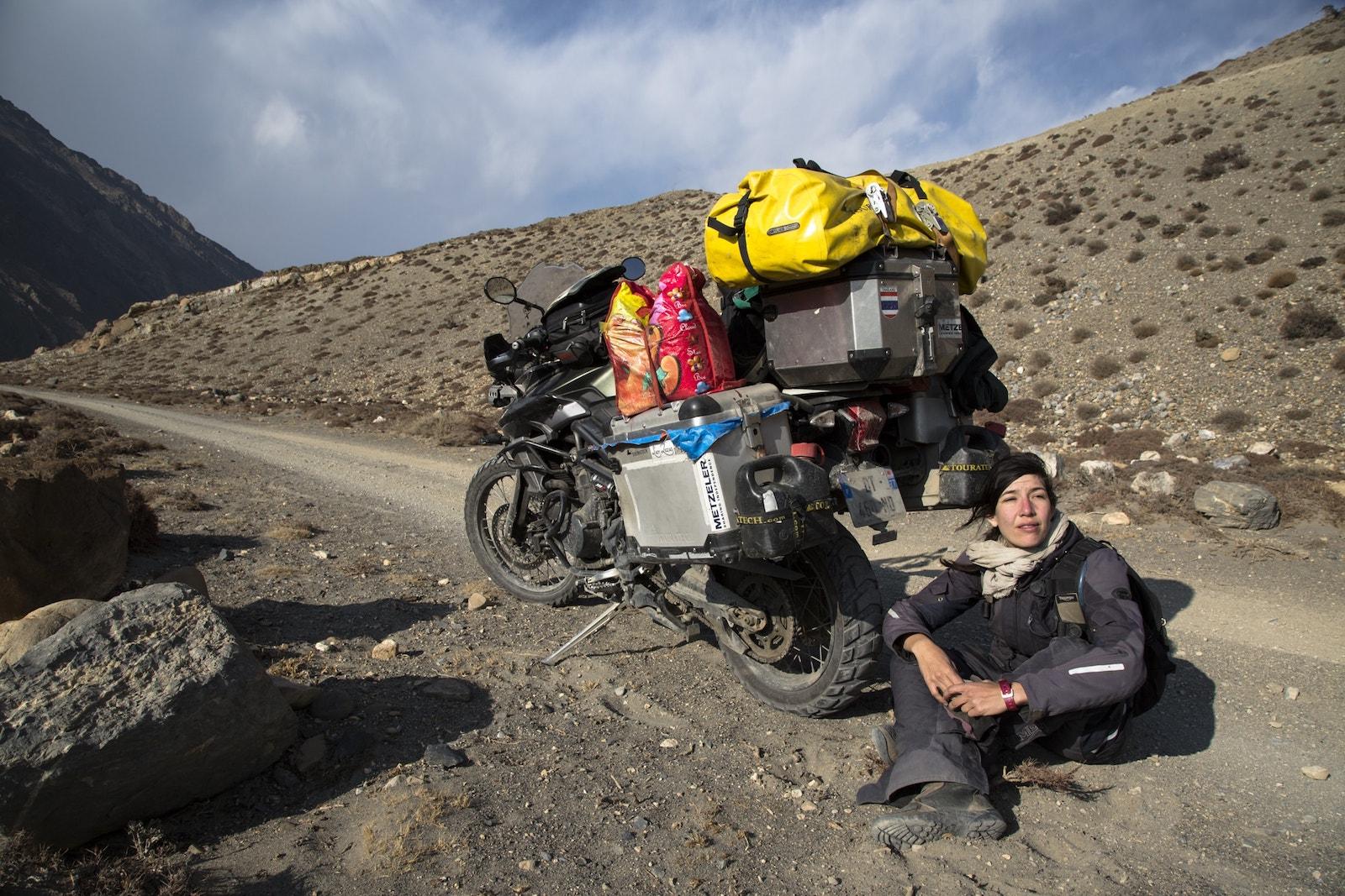 Melusine Mallender voies de la liberte ne te degonfle pas expedition moto voyage asie 1