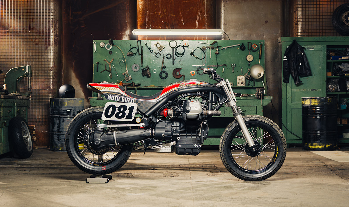 Moto guzzi griso dirt track by crn 4h10 for Dirt track garage