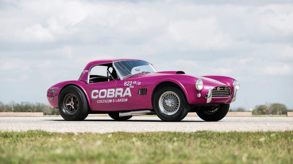 Shelby Cobra-Dragonsnake-1963-63-Dragon-Snake-Shelby-Cobra-CSX2019-Carroll-289-427-vendre-enchere-sold-