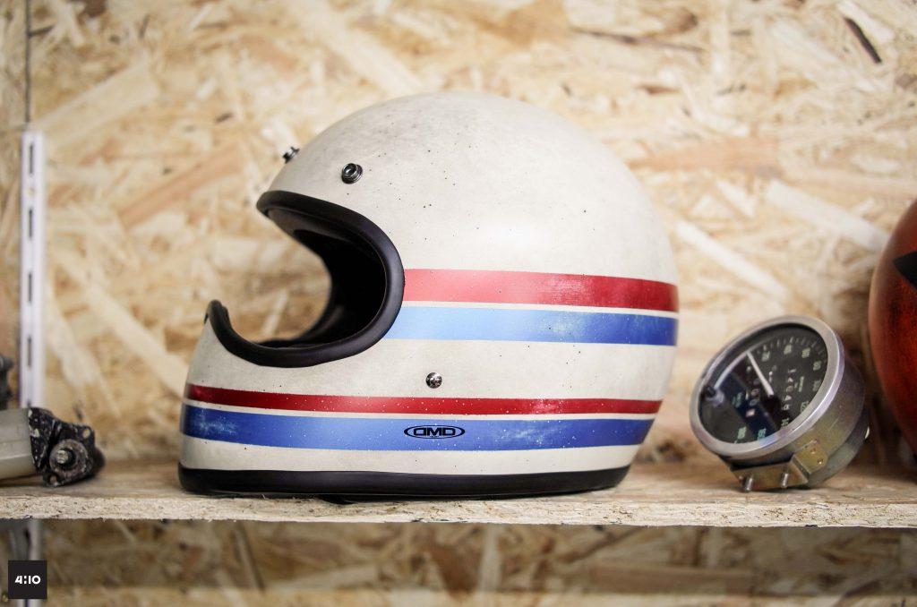 DMD-fait main-main-hand made-custom-kustom-casque-moto-intégral-helmet-bike-motorcycle-rare-serie limitée