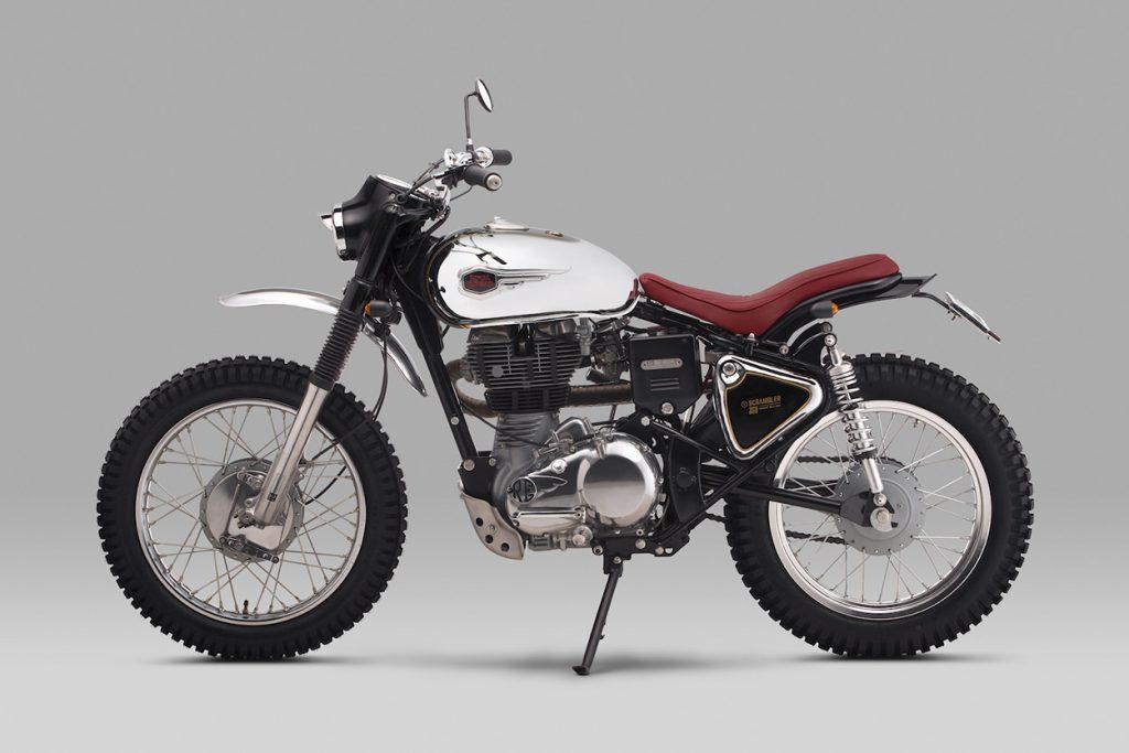 Un scrambler sur base de Royal Enfield Bullet 350. La « Moltar » de Thrive Motorcycle.