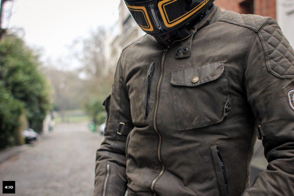 MERLIN Hamstall-test-avis-vintage-moto-look-coton-ciré-CE-protection-Merlin-blouson-jacket-cuir-Outlast-
