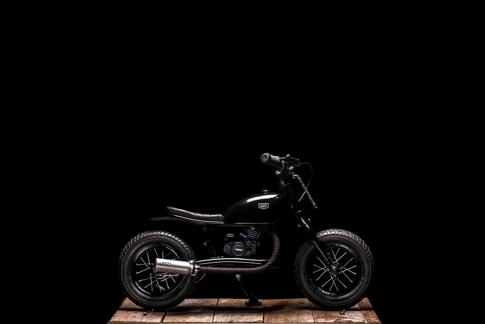 Mini-Brap, mini bike, pocket bike, cafe racer kid enfant vintage