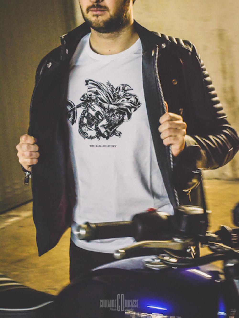 tee shirt 4H10 musa moto cafe racer napoleon riding bernard