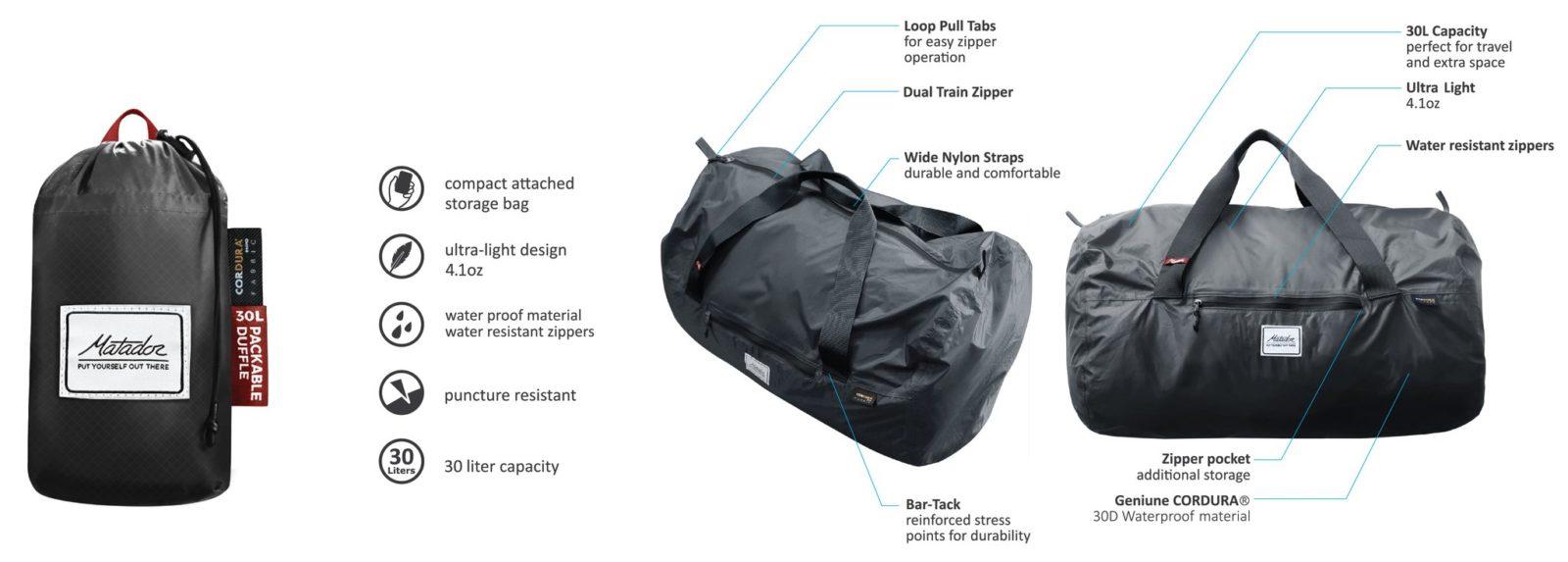 matador sac étanche bag
