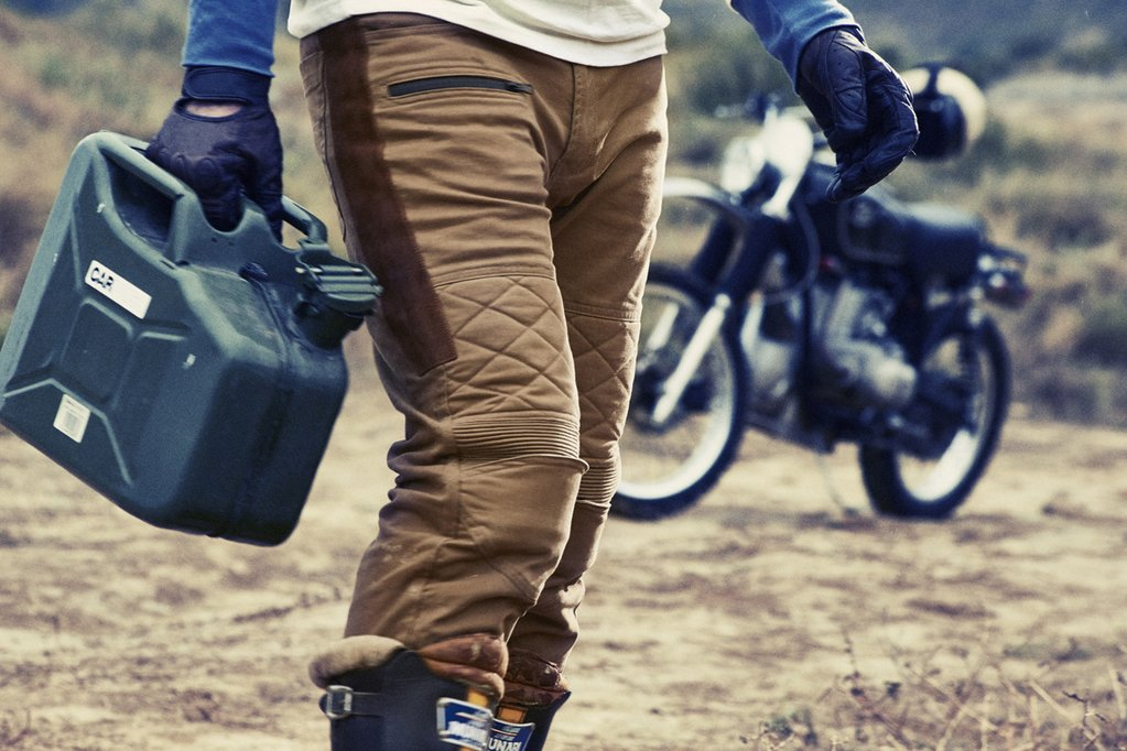 fuel sergeant Sahara pantalon cross enduro flat track cuir