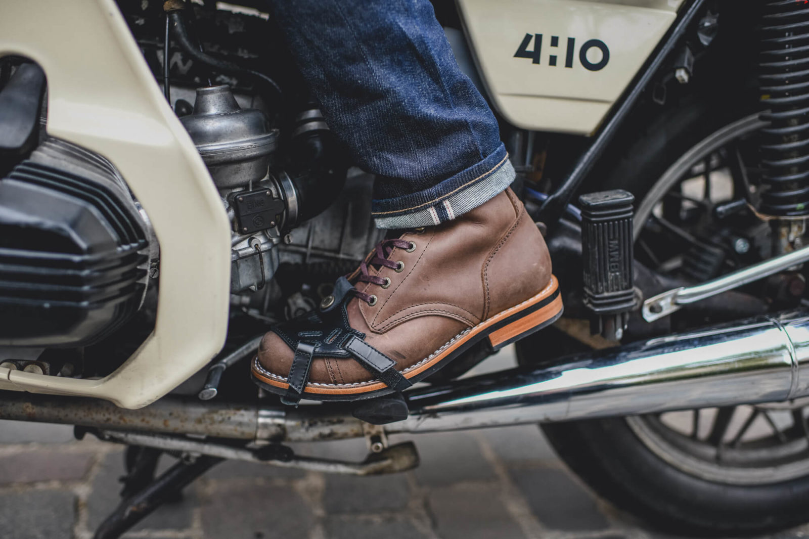 ortodoux helston chaussure moto vintage cafe racer