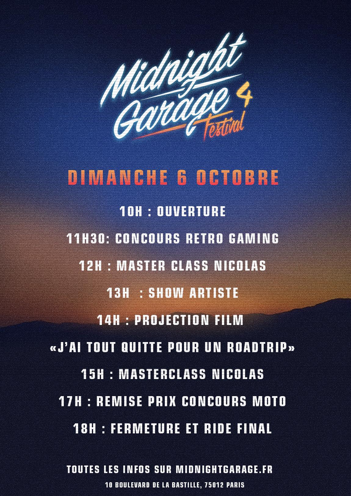 midnight garage 4 programme prix entree festival moto paris salon custom cafe racer expo
