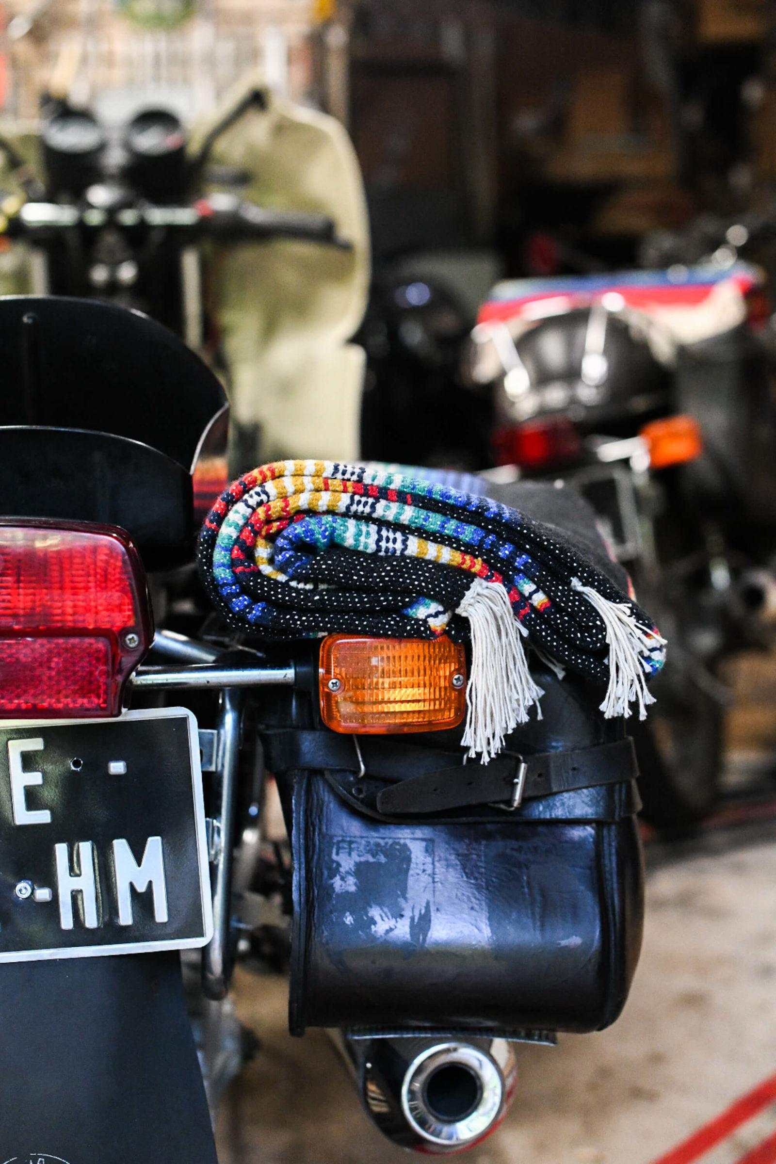 serape iron resin couverture moto roadtrip
