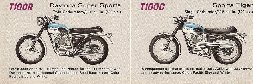 Triumph T100R Daytona et T100C Tiger