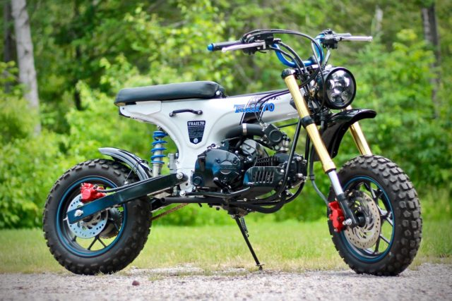 Honda CT70 x moteur Grom par Therapy Garage