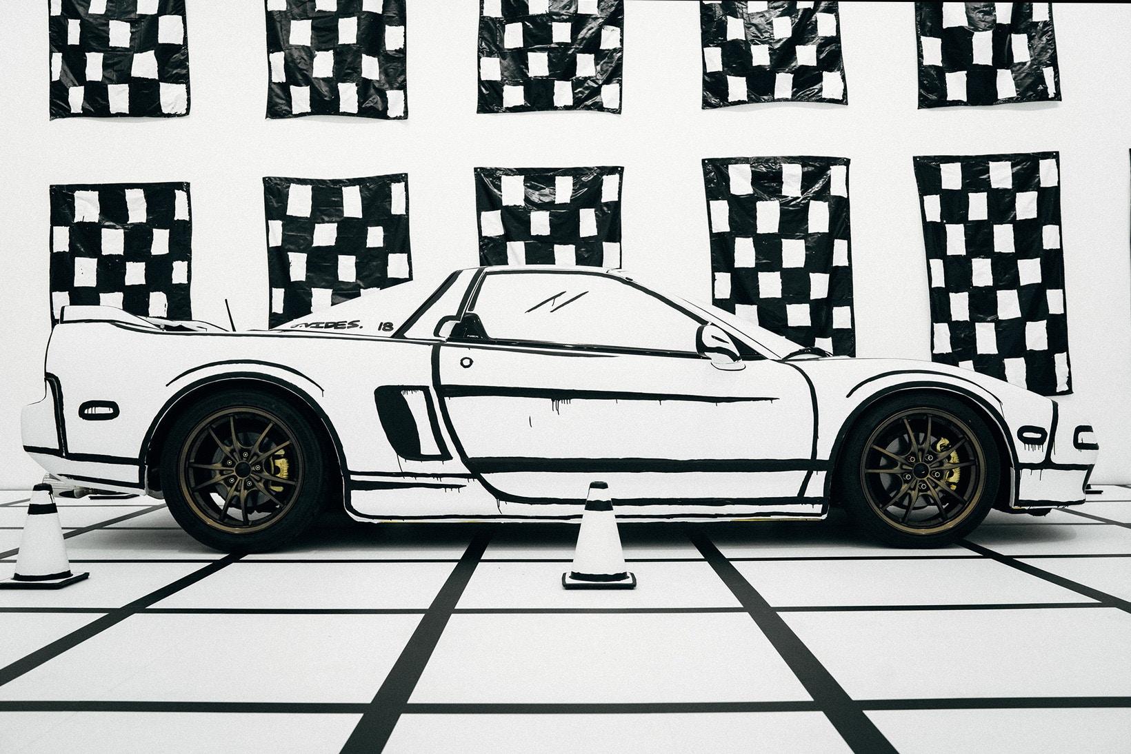 Vue de profil de l'Acura NSX de Joshua Vides