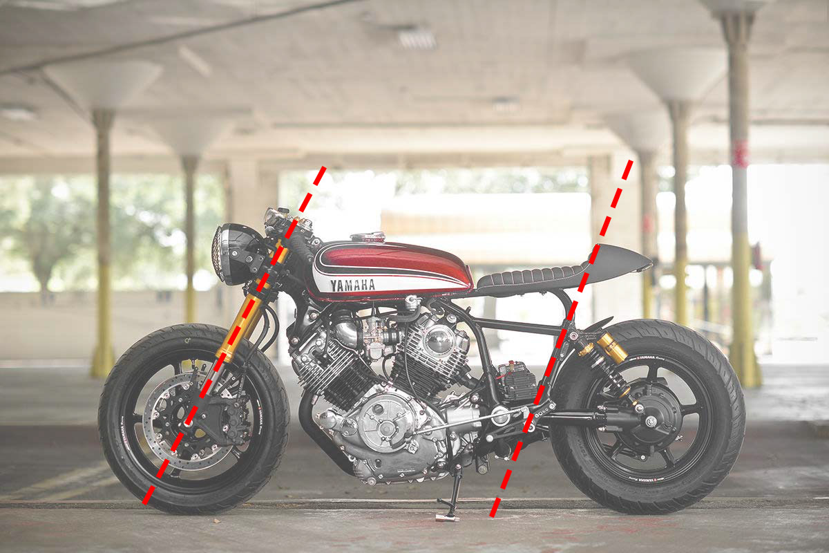 repartition elements cafe racer
