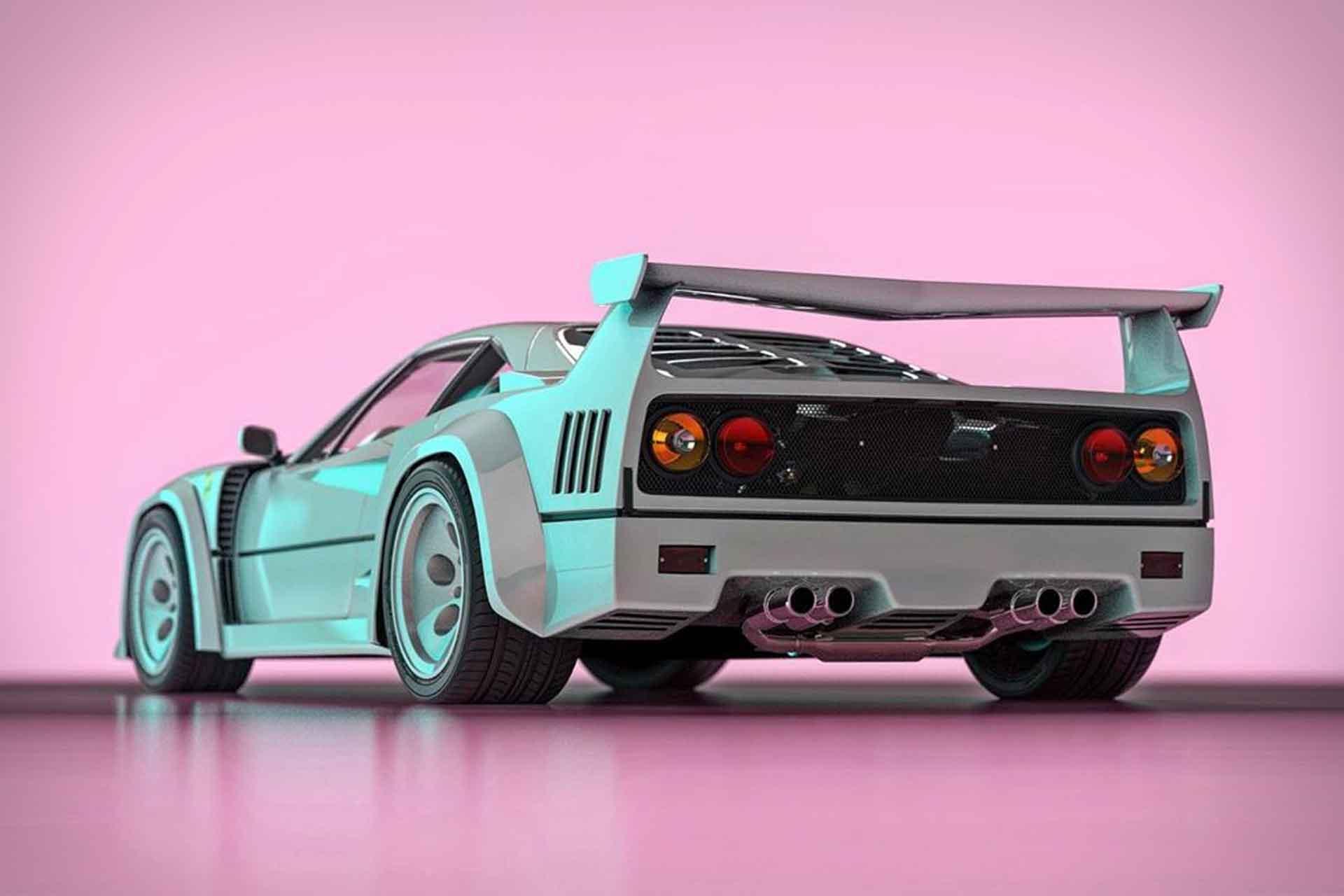 Ferrari F40 Contact Lamborghini