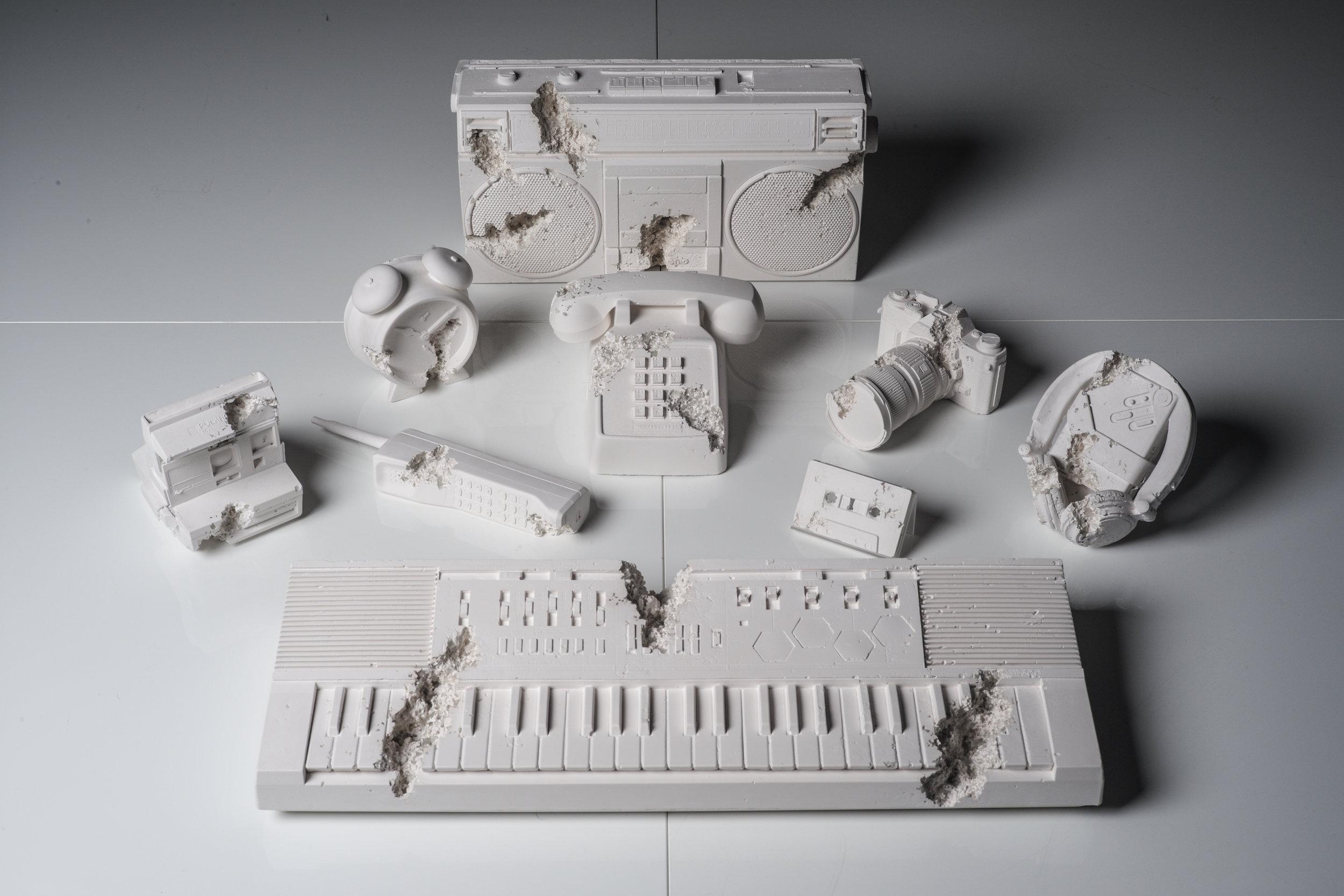 Objets fossilisés produits par Arsham Studios