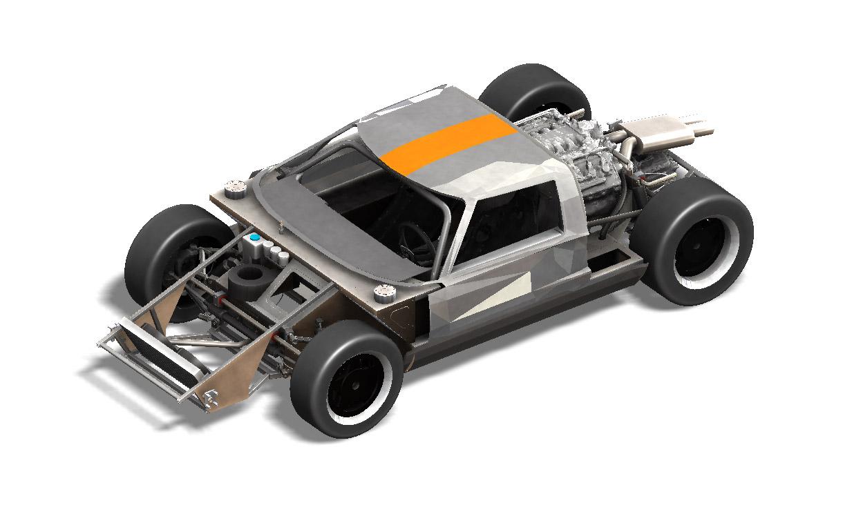 modelisation 3D GT40 benjamin workshop