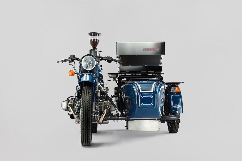 Le side car machine a café par Gasoline