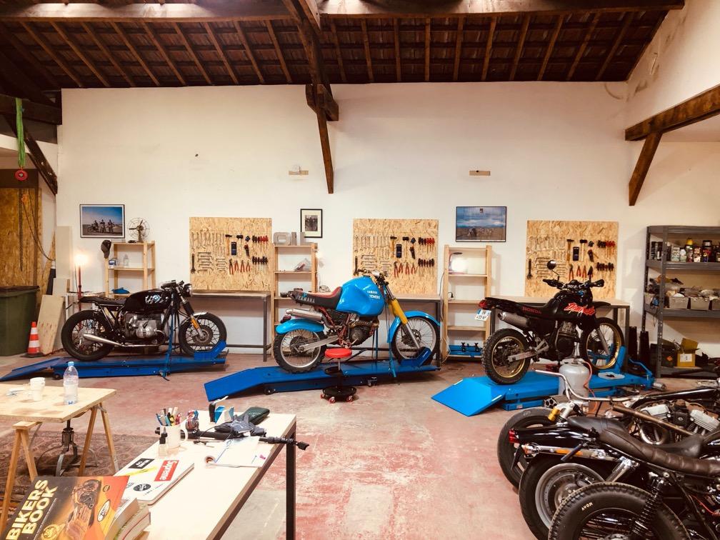 garage atelier participatif moto paris