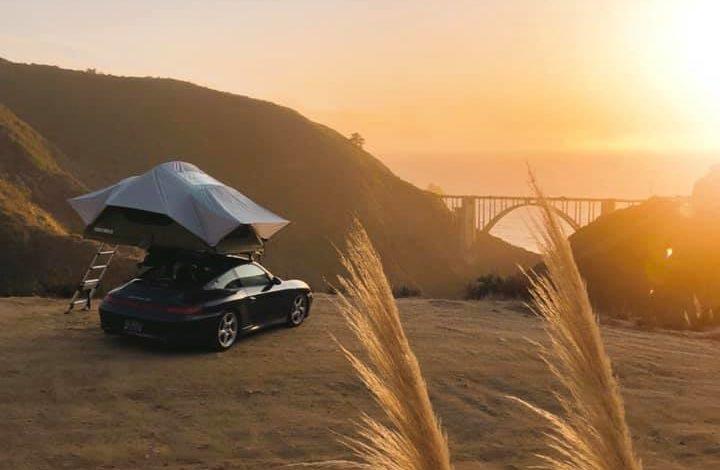 Roadtrip en Porsche 911 type 996 4S… avec la tente de toit !