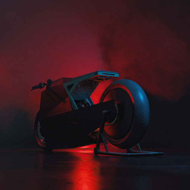 Concept Moto Tesla Night
