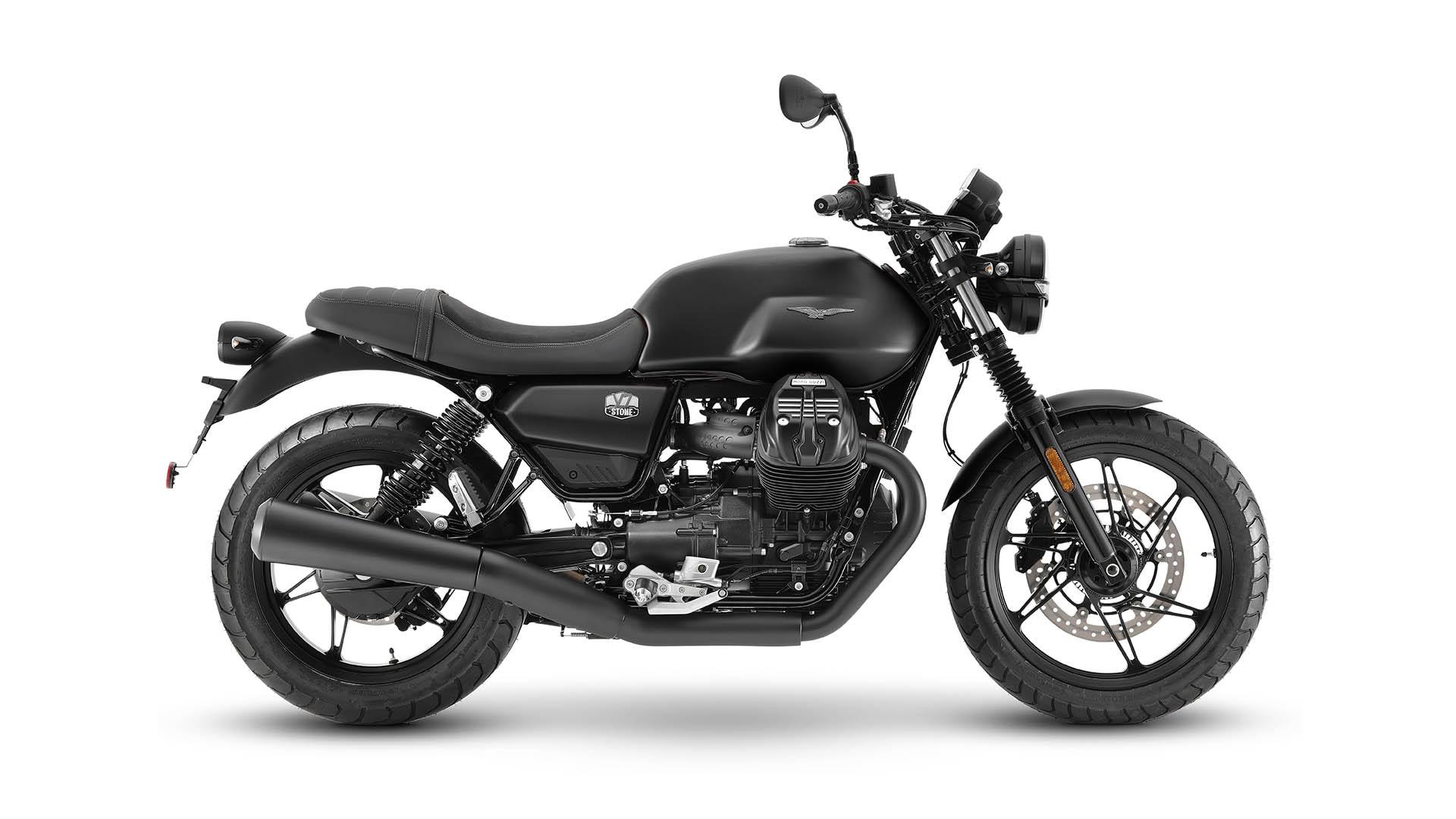 Moto Guzzi V7 2021 Nero Ruvido noir côté droit