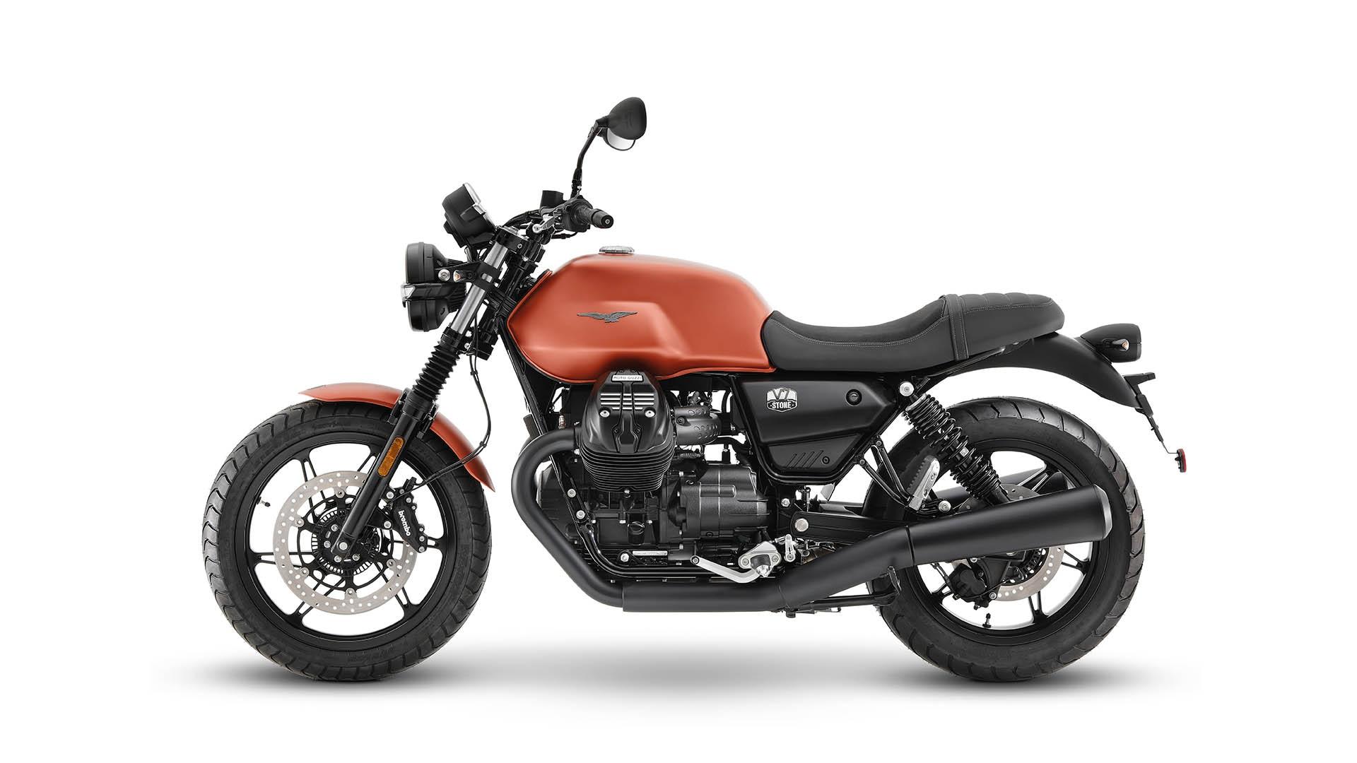 Moto Guzzi V7 2021 Arancione Rame gauche