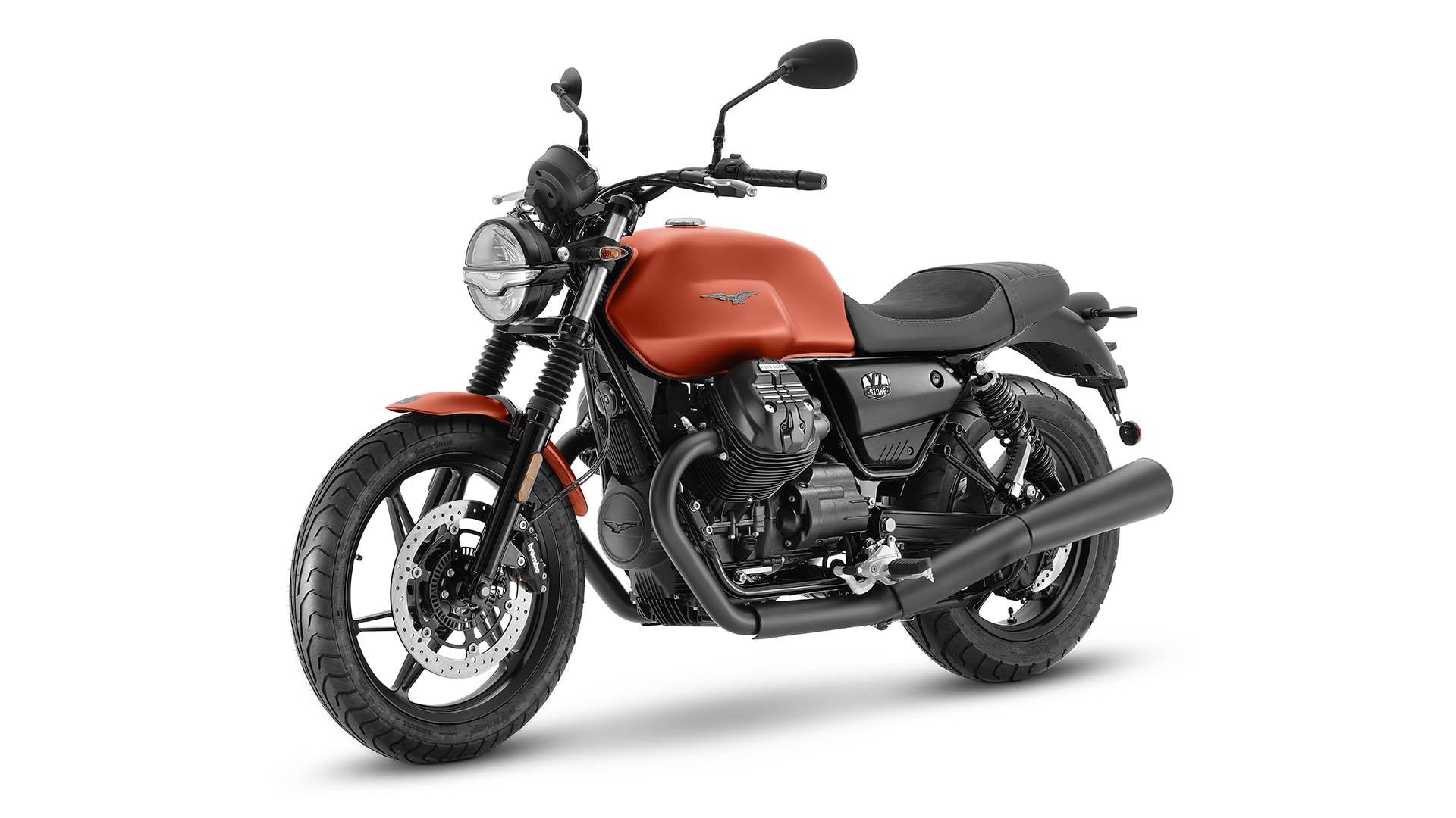 Moto Guzzi V7 2021 Arancione Rame avant