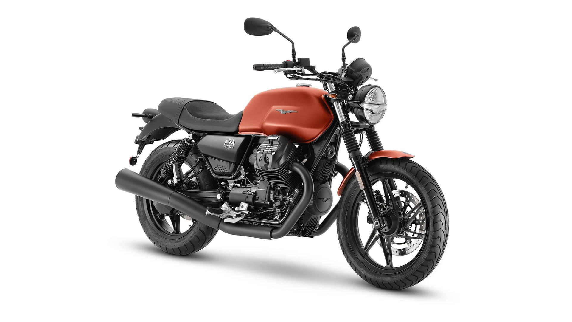 Moto Guzzi V7 2021 Arancione Rame avant droit